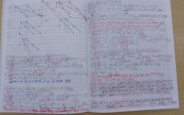 前橋高校を前期選抜で合格した生徒さんが 受験期に使っていたノート